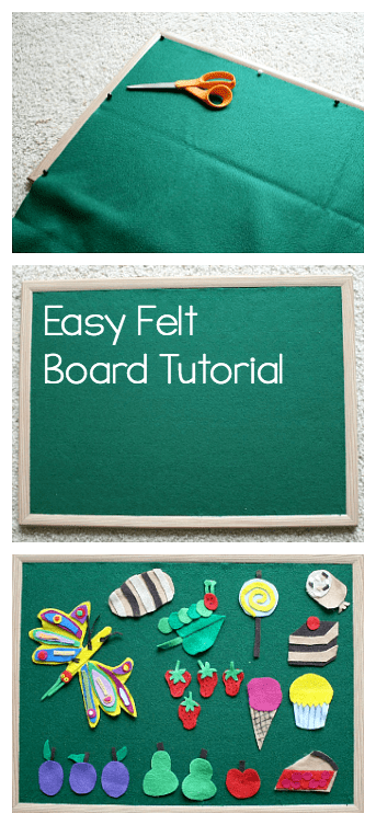 How to make a felt board or flannel board- easy tutorial!