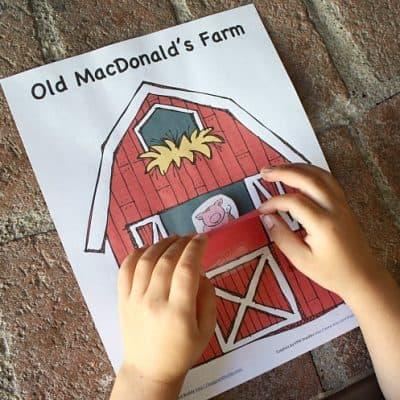 Peek-A-Boo Farm Animals Activity (Free Printable)