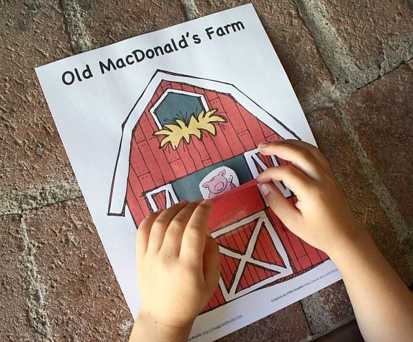 Peek A Boo Farm Animals Activity Free Printable Buggy