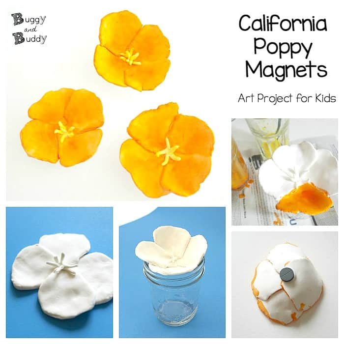 California poppy magnets flower craft for kids buggy and buddy california poppy magnets art and craft project for kids mightylinksfo