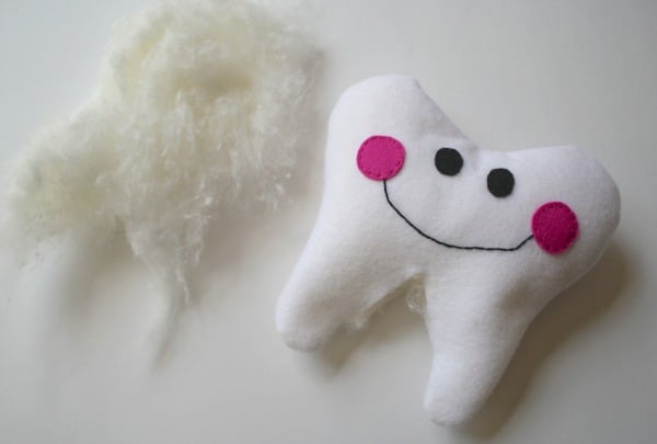 stuff the tooth pillow