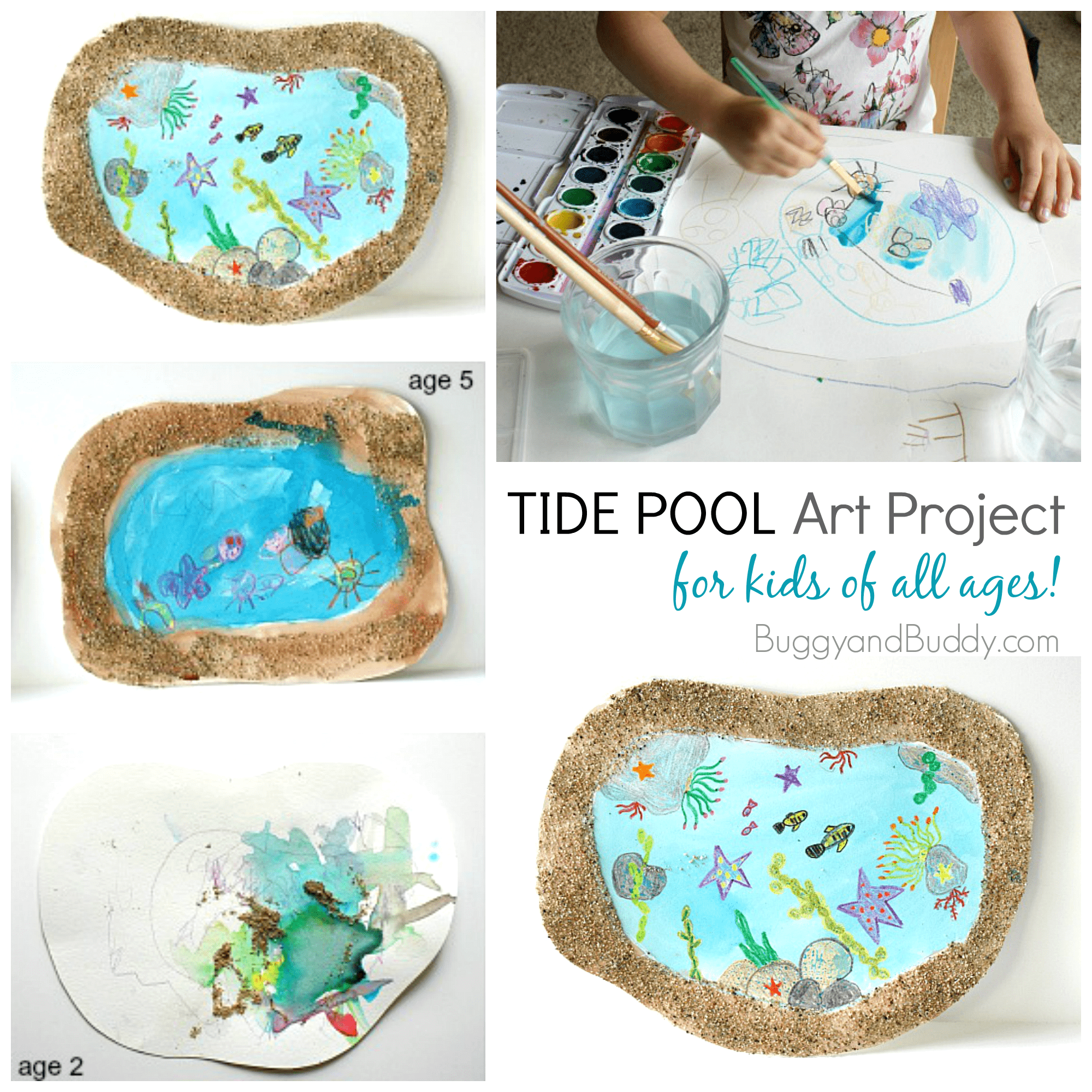 Tide Pool Art for Kids - Buggy and Buddy