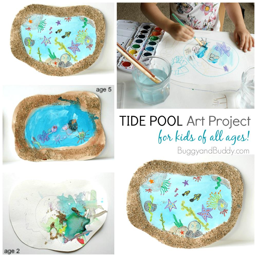 Tide Pool Art for Kids