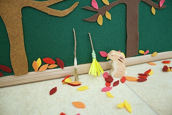 Fall Activity for Kids Using Felt