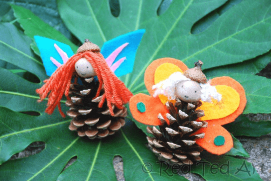 Pinecone Fairies~ Red Ted Art