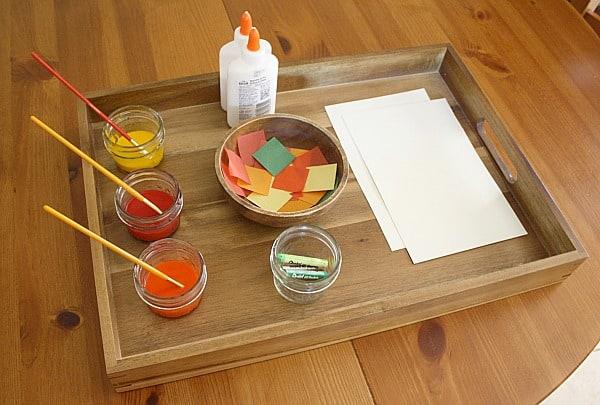 preschool art table. Autumn Colours Art Preschool Table