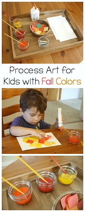 autumn crafts toddlers fall projects invitation to create using fall colors 10066