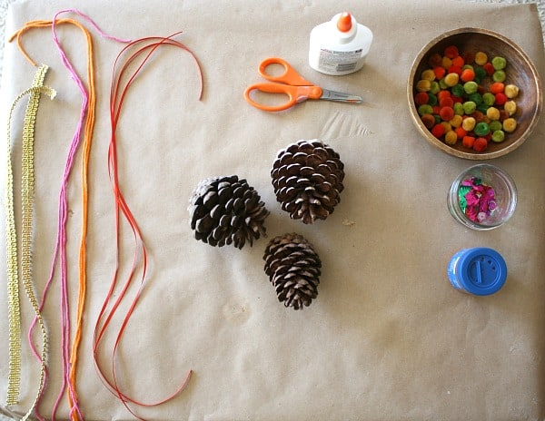 Fall Invitation to Create: Decorate Pinecones~ Buggy and Buddy