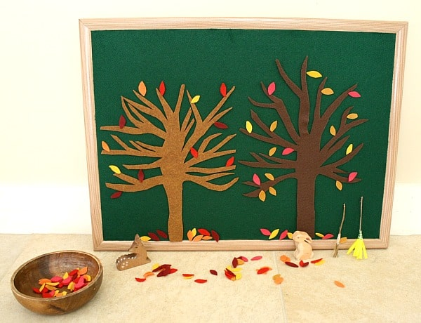 Invitation to Play: Fall Leaves Felt Set~ Buggy and Buddy
