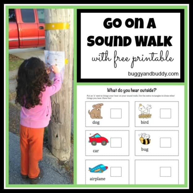 Go on a Sound Walk (with Free Printable)~ Buggy and Buddy