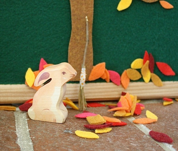 Invitation to Play: Fall Felt Leaves and Trees