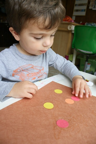 Invitation to Create: Fall Art for Toddlers with Circles ...