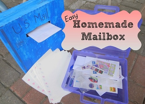 Easy Homemade Mailbox~ P is for Preschooler