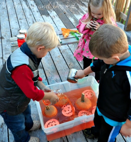Pumpkin Themed Sensory Invitation to Play