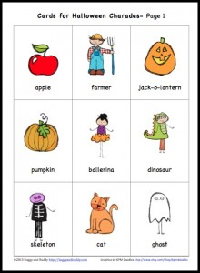 halloween games for kids charades
