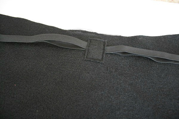 center-sewn