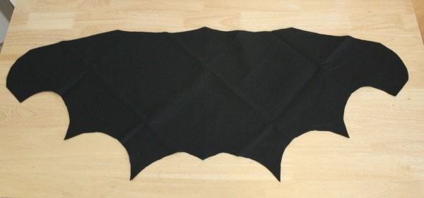 bat wings cut out and unfolded