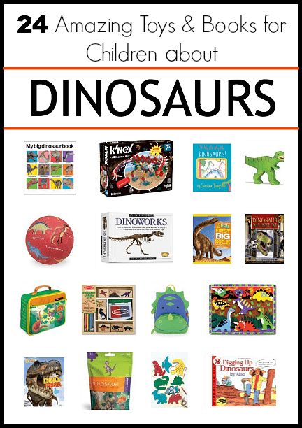 Great gift ideas for the upcoming holidays! 24 Amazing DINOSAUR Books & Toys for Children~ Buggy and Buddy