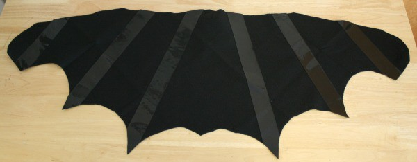 Homemade Halloween Costume: Felt Bat Wings with Duck Tape Details