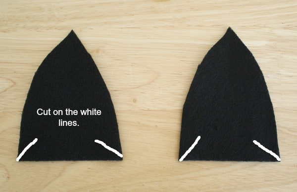 where to cut ears