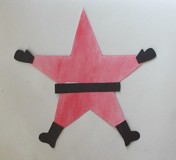 Homemade Christmas Star Ornament: Homemade Christmas Ornaments: Santa Star