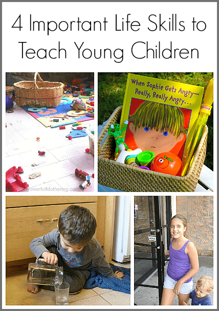 4 Important Life Skills to Teach Young Children (with simple ways on how to do it!)