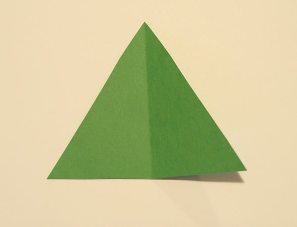 Cut out green triangle
