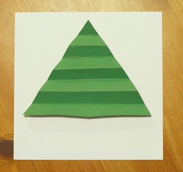 accordion fold the green triangle