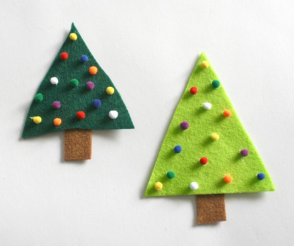 easy christmas crafts for kids felt christmas tree pin On easy christmas felt crafts