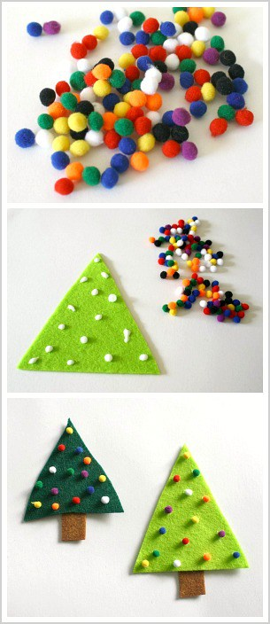 easy christmas craft for toddlers and preschoolers make a felt christmas tree pin or - Easy Christmas Craft
