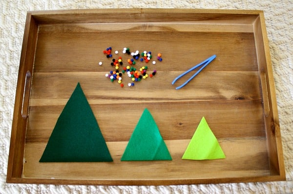 Decorate Christmas Tree Worksheet : Fine motor activities decorate the felt christmas trees