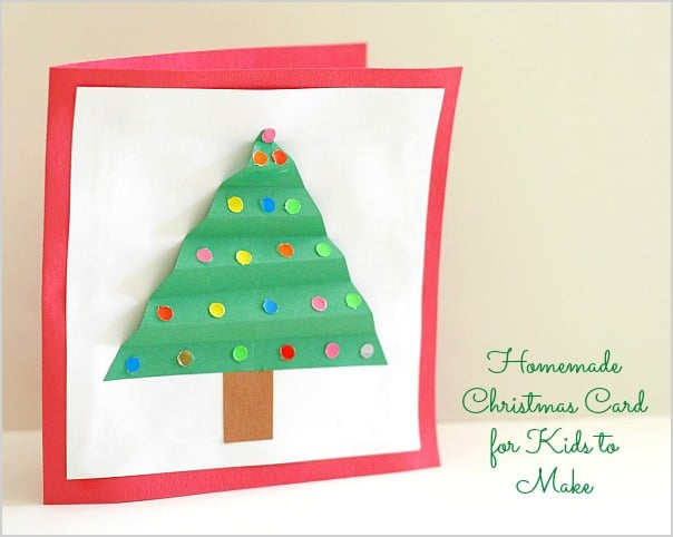 Homemade Christmas Card for Kids to Make~ Buggy and Buddy