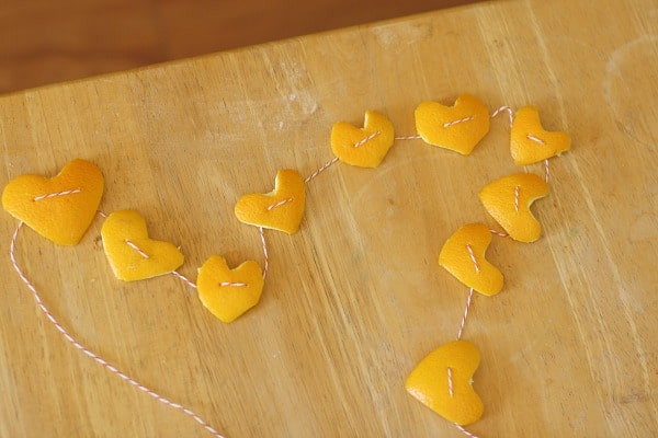 Orange Peel Heart Garland~ Buggy and Buddy