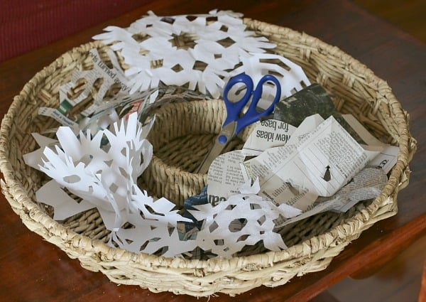 Paper Snowflake Cutting Basket