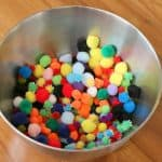 Toddler Activities: Scooping Pom Poms