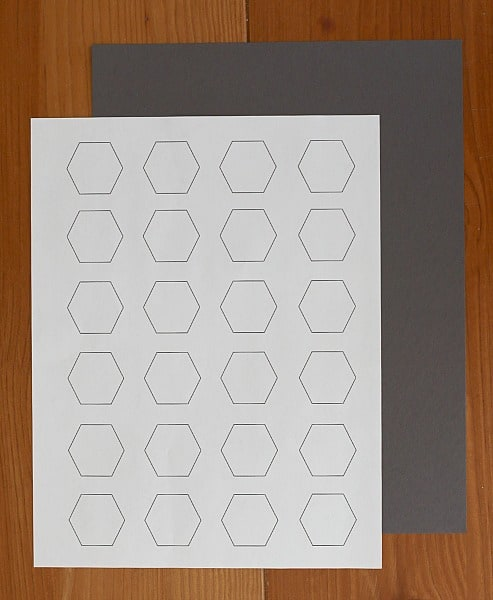 printable hexagons