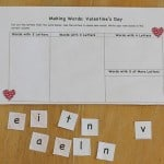 Valentine's Day Activities: Making Words (Free Printable)