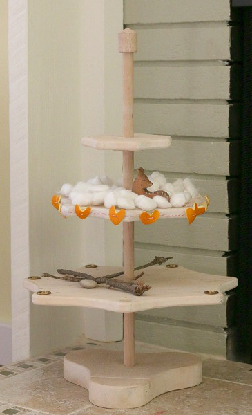 Our winter nature table decorated with heart garland made from orange peels! ~ Buggy and Buddy