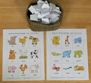Free Printable Animal Charade Game for Kids~ Buggy and Buddy