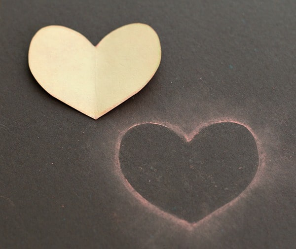 Crafts for Kids: Chalk Stencil Heart Collage