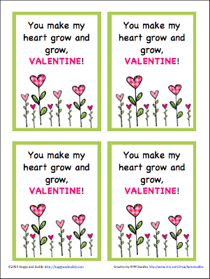 free printable valentines for seeds and plants