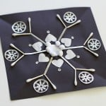 Symmetrical Snowflake Winter Craft for Kids
