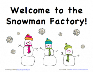 Snowman Factory Sign Free Printable