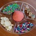 Sensory Play: Decorating Cherry Play Clay Hearts