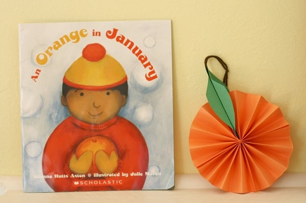 "An Orange Paper Craft for Kids to Go with the Book ""An Orange in January""~ Buggy and Buddy"