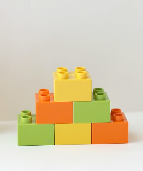 Lego bricks for math activity for kids using Legos