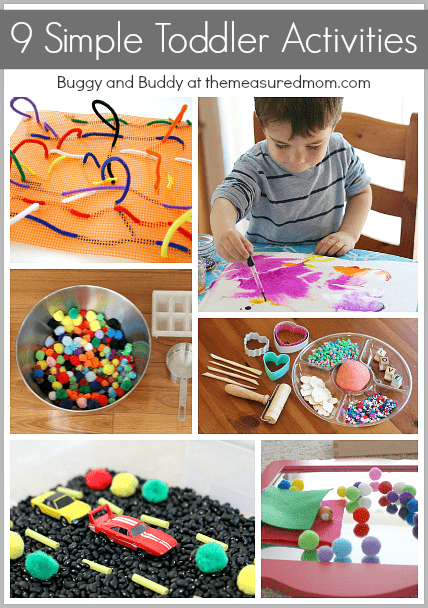 These simple toddler activities will keep your toddler busy and happy!