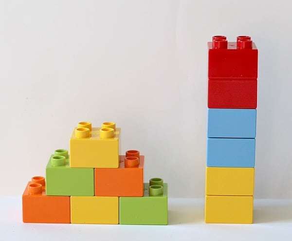 Lego bricks for math activity for kids