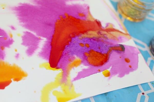 Toddler Watercolor Painting