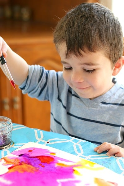 Painting with Watercolors and Droppers (Art for Kids)